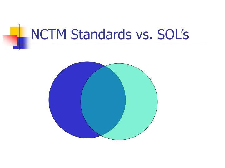 Nctm standards vs sol s