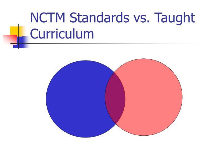 NCTM Standards vs. Taught Curriculum