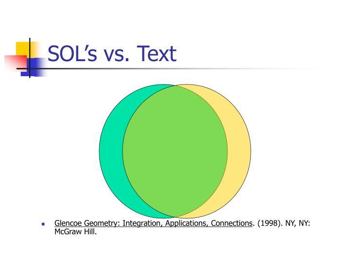 SOL's vs. Text