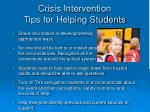crisis intervention tips for helping students