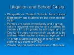 litigation and school crisis