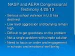 nasp and aera congressional testimony 4 20 10