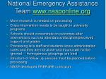 national emergency assistance team www nasponline org