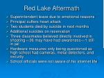 red lake aftermath
