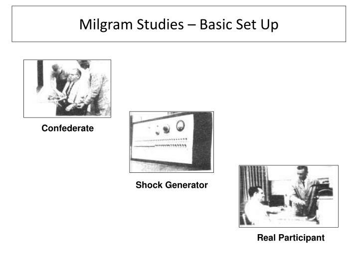 Milgram Studies – Basic Set Up