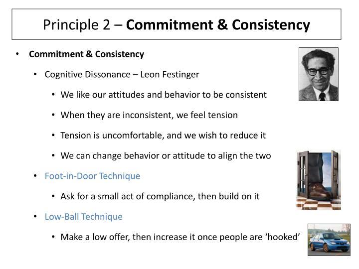 Principle 2 commitment consistency