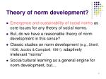 theory of norm development