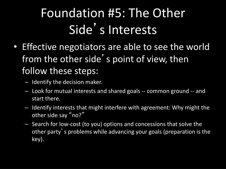Foundation #5: The Other