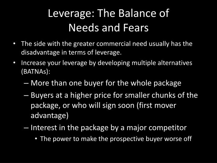 Leverage: The Balance of