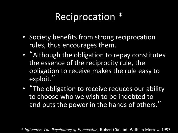 Reciprocation *