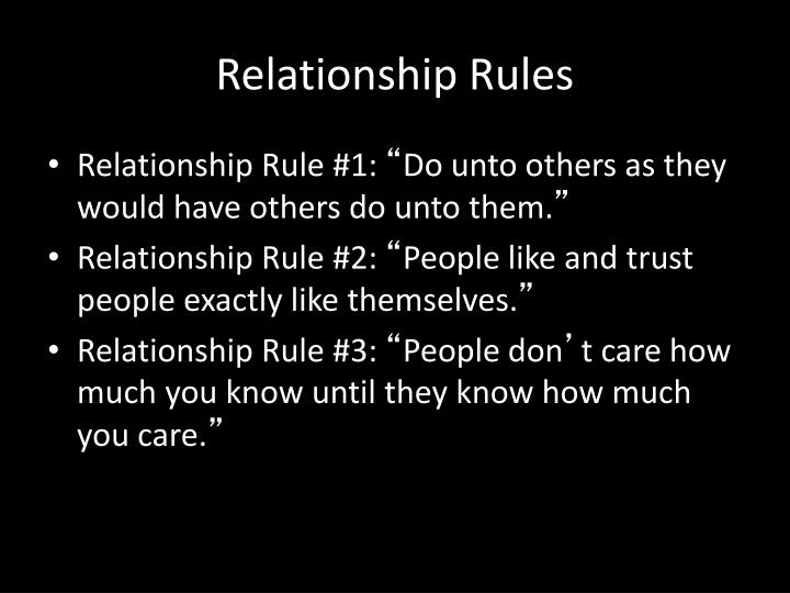 Relationship Rules