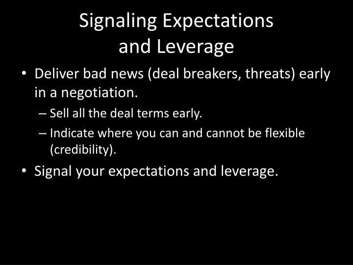 Signaling Expectations