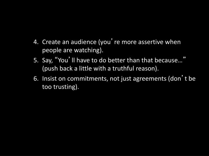 Create an audience (you