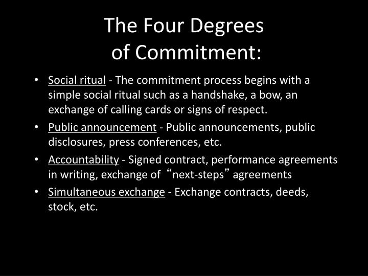 The Four Degrees