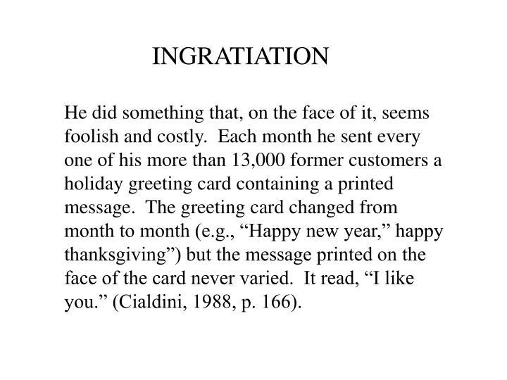 Ingratiation