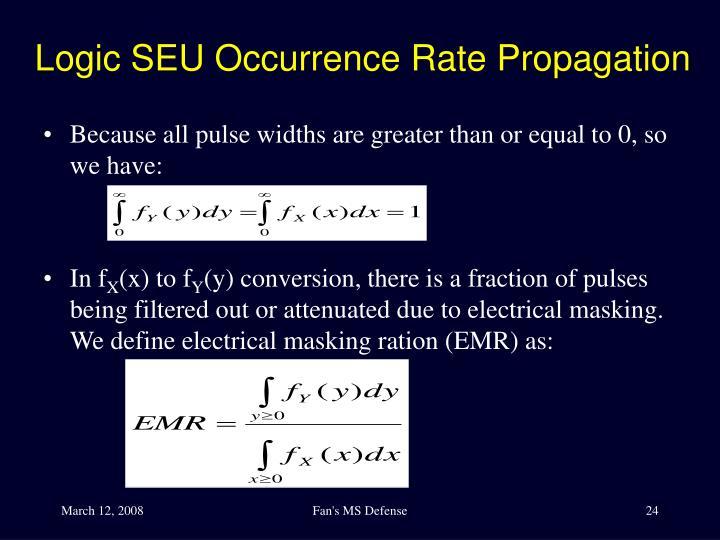 Logic SEU Occurrence Rate Propagation