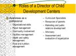 roles of a director of child development centers