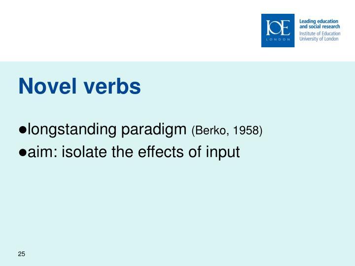Novel verbs