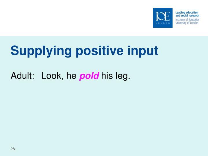 Supplying positive input