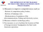 the importance of the tradable sector in the chilean economy and in policy making4