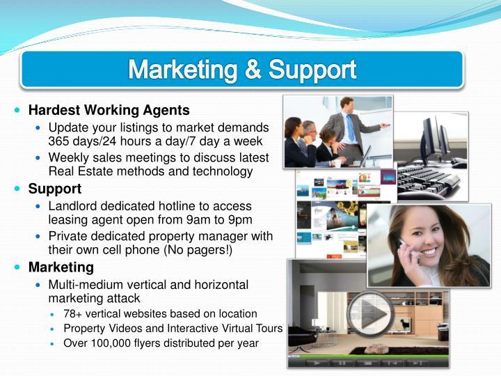 Marketing & Support