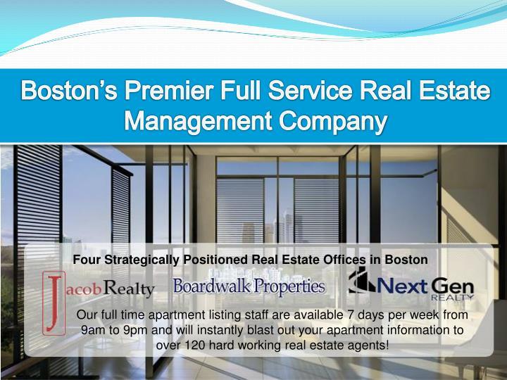 Boston's Premier Full Service Real Estate