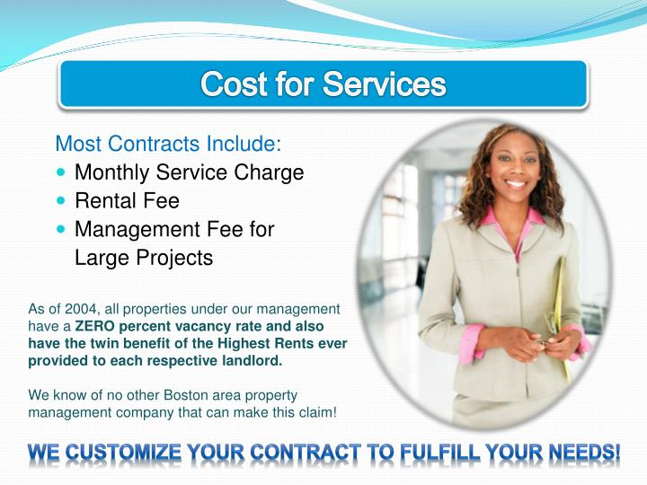 Cost for Services