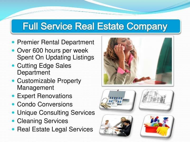 Full Service Real Estate Company