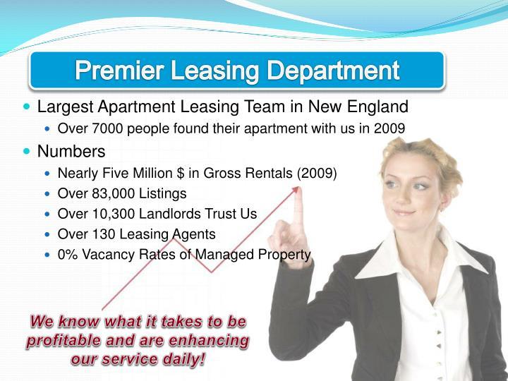 Premier Leasing Department