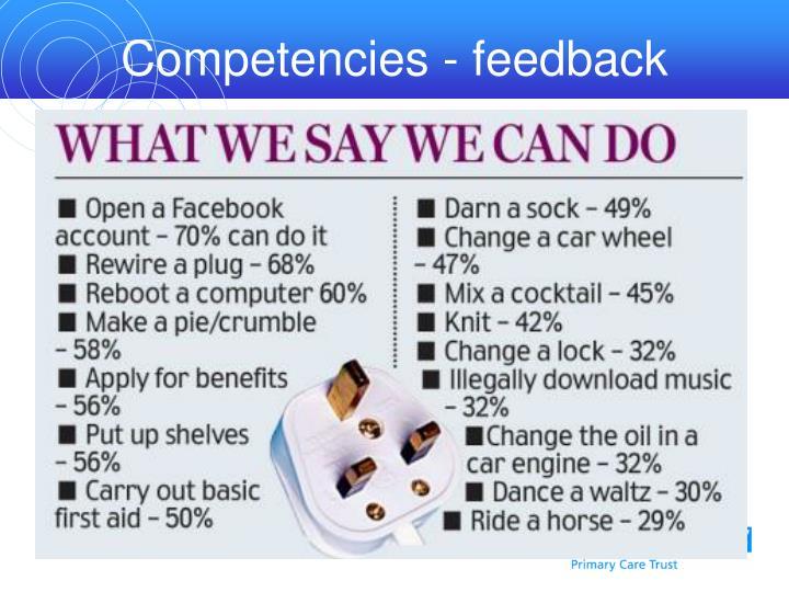 Competencies - feedback