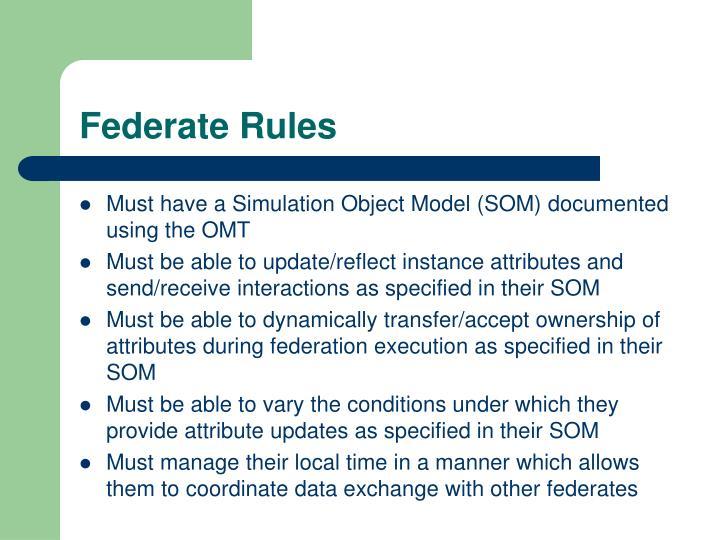 Federate Rules
