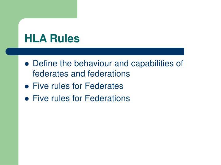 HLA Rules