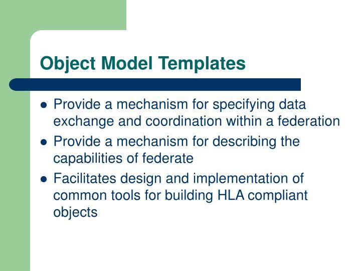 Object Model Templates