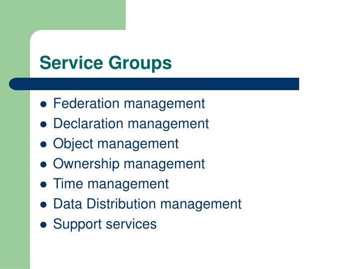 Service Groups