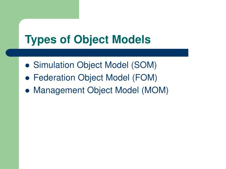 Types of Object Models