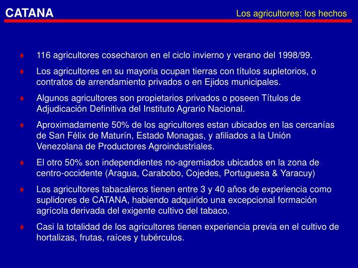Los agricultores: los hechos