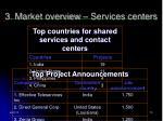 3 m arket overview services centers