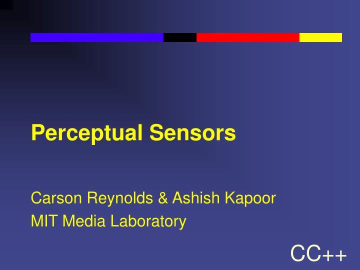 Perceptual Sensors