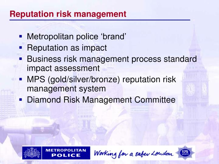 Reputation risk management