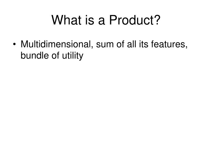 what is a product n.