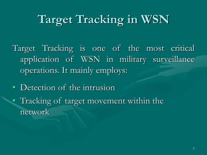 Target Tracking in WSN