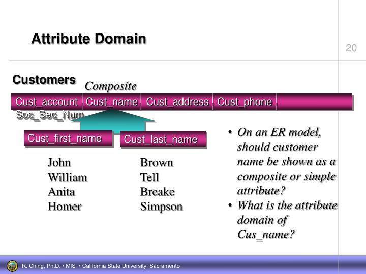 Attribute Domain