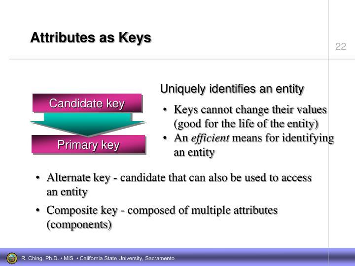 Attributes as Keys