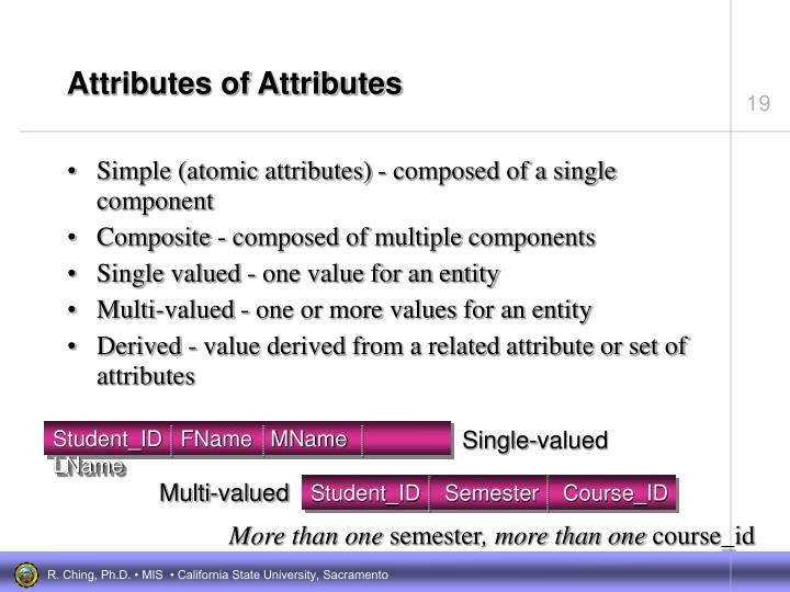 Attributes of Attributes