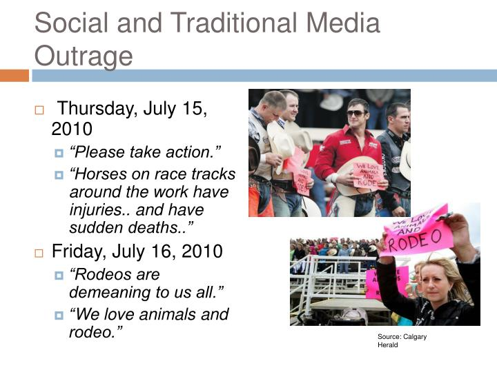 Social and Traditional Media Outrage