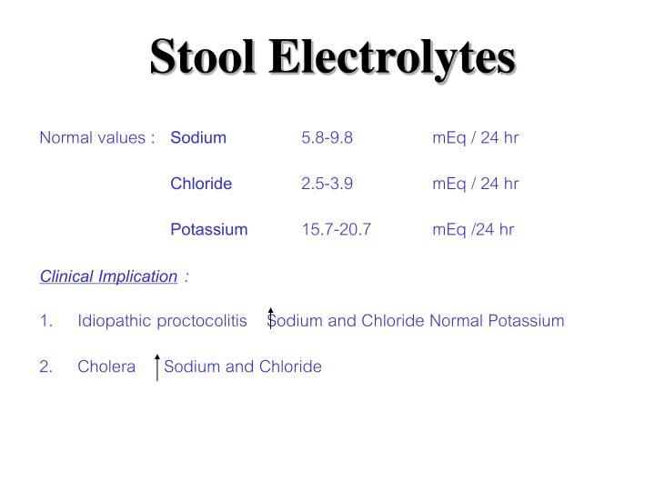 Stool Electrolytes