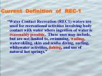 current definition of rec 1
