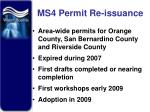 ms4 permit re issuance
