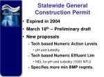 statewide general construction permit