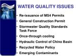 water quality issues